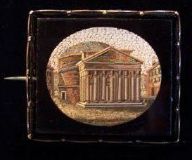Micromosaico che raffigura il Pantheon