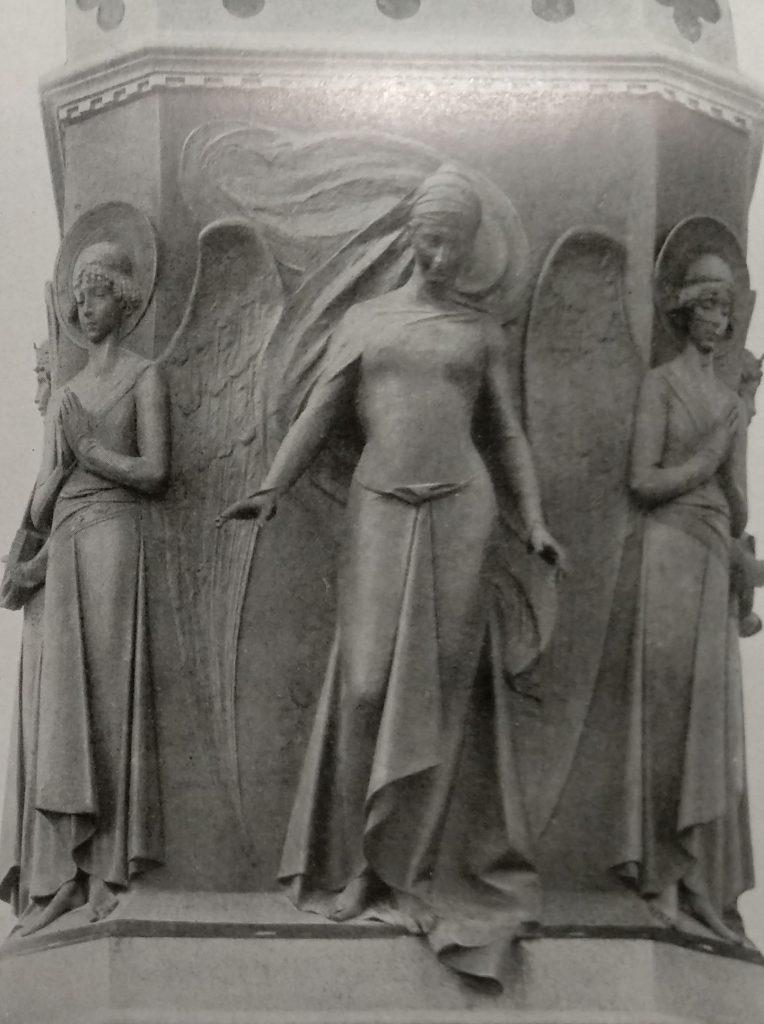 Cesare Zocchi Monumento a Dante particolare con Beatrice in bronzo