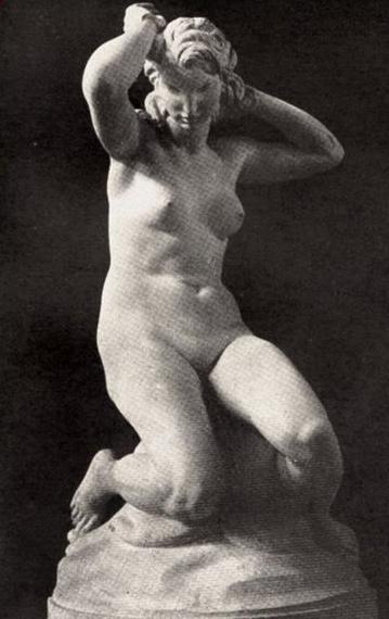 La Giovinetta o Bagnante, opera del 1931 di Bernardo Morescalchi, scultore noto tra coloro che hanno partecipato all'impresa del Foro