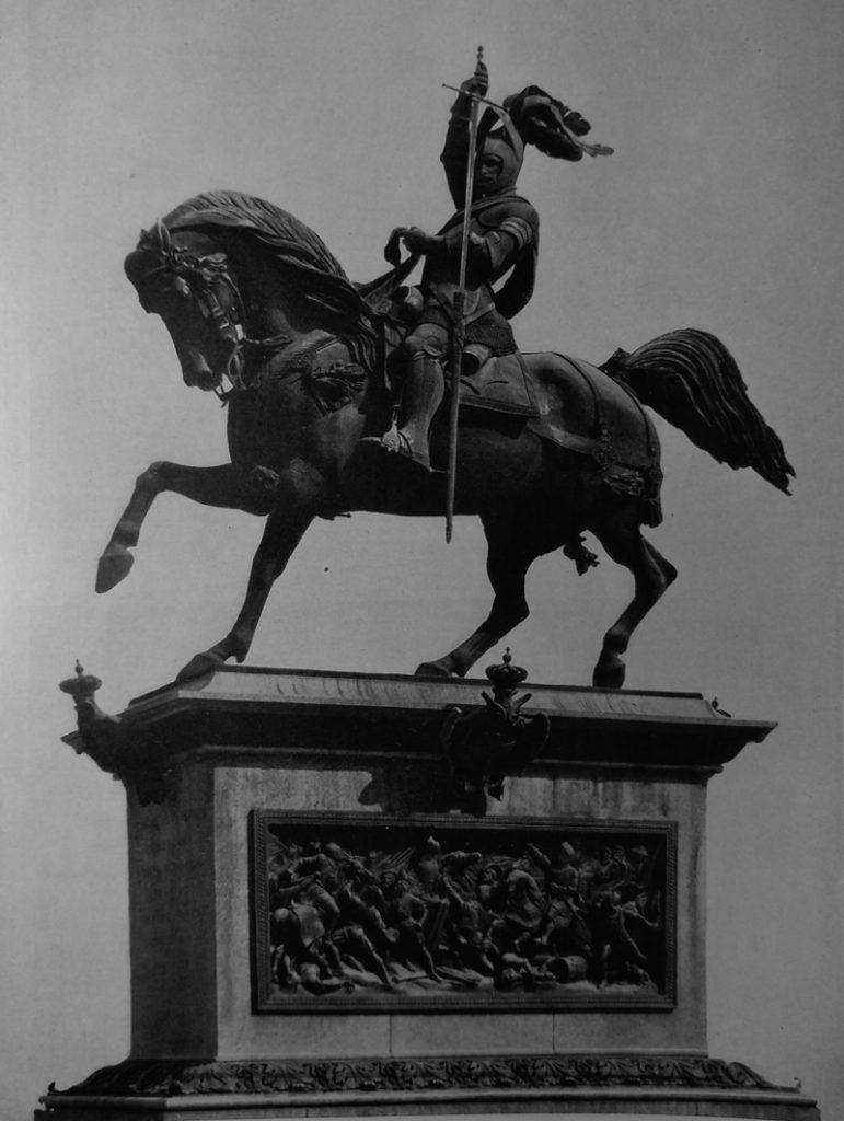 Carlo Marochetti Monumento a Emanuele Filiberto in bronzo