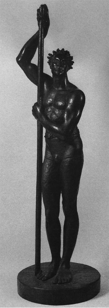 L'opera costituisce lo studio per una delle sculture in marmo che Eugenio Baroni realizzò per lo Stadio del tennis del Foro Italico di Roma. Progettato a partire dal 1927 dall'architetto Enrico Del Debbio.