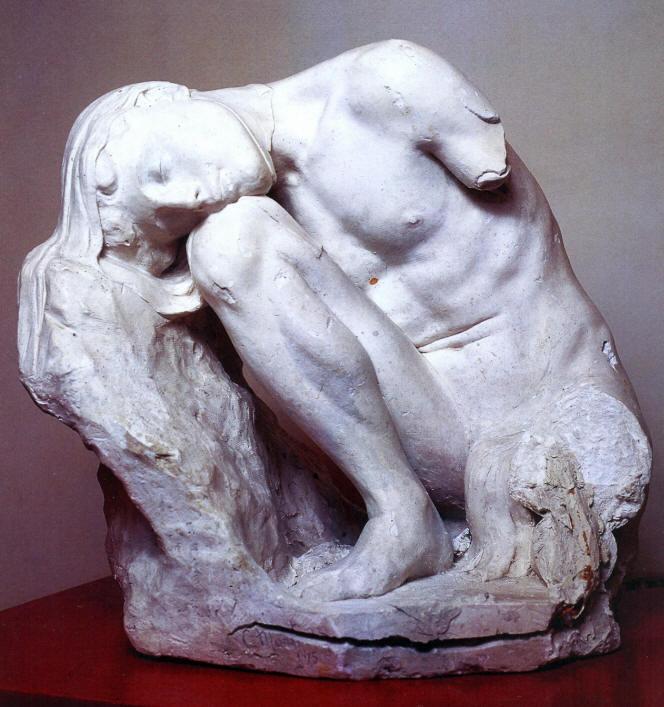 Gaetano Martinez Il dolore umano 1915 in gesso