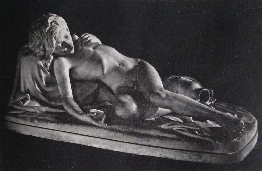 Giovanni Strazza - Ismaele abbandonato in marmo