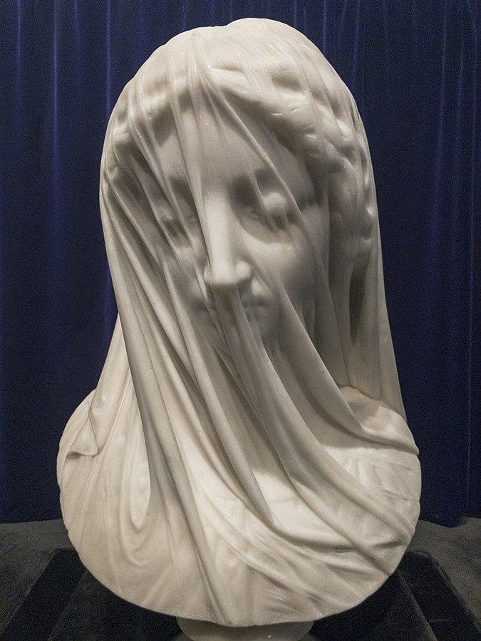 La Vergine velata è una statua in marmo di Carrara scolpita a Roma dallo scultore italiano Giovanni Strazza raffigurante il busto di una vergine Maria velata. La data esatta del completamento della statua è sconosciuta, ma probabilmente era agli inizi del 1850.