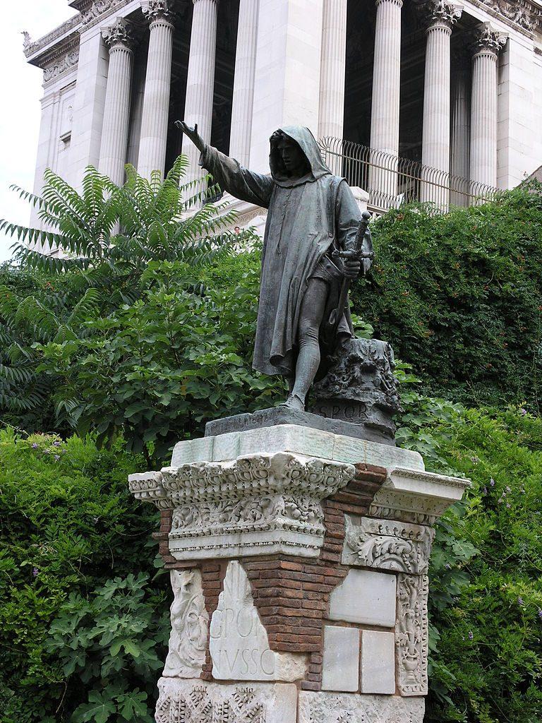 Girolamo Masini Roma statua cola di rienzo