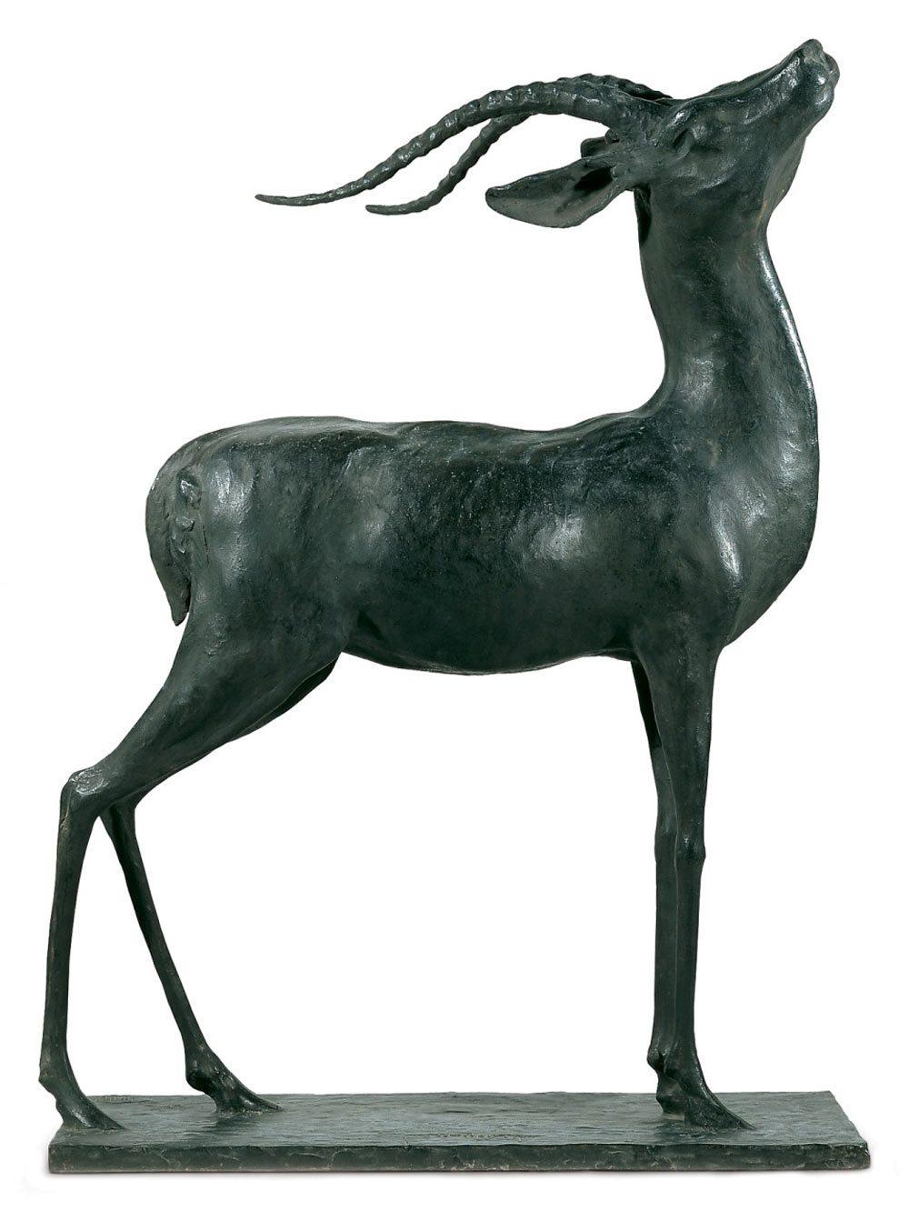 Guido Righetti - Antilope Eritrea in Bronzo