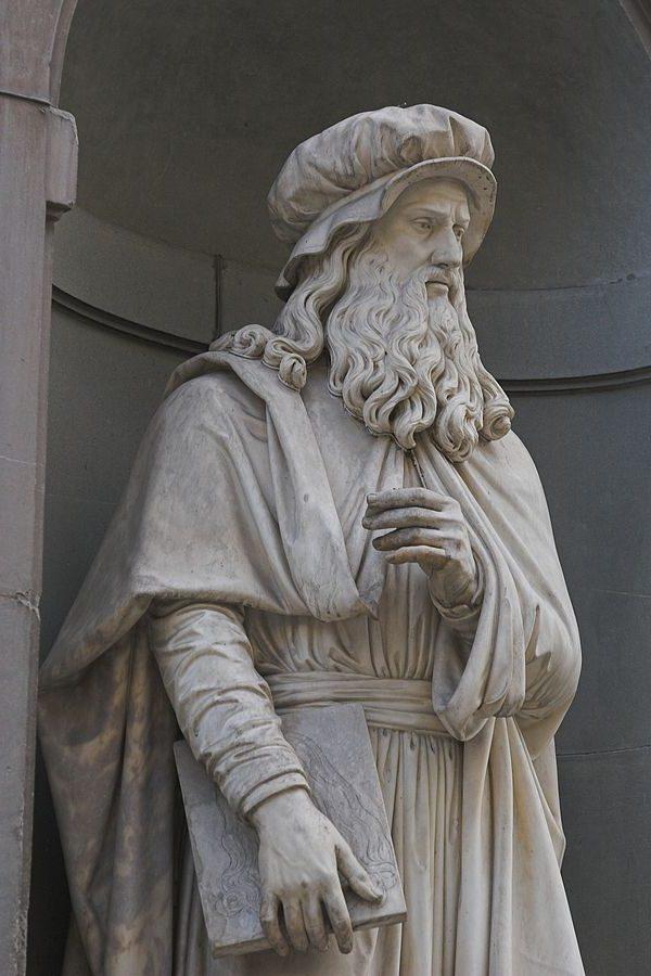 Luigi Pampaloni Il Leonardo da Vinci per il piazzale degli Uffizi