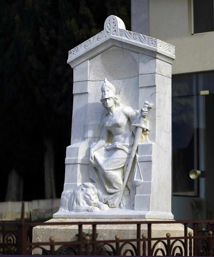 Mario Rutelli: Monumento alla Giustizia, cimitero monumentale di Bisacquino, tomba del giurista bisacquinese Giuseppe Cantavespri.