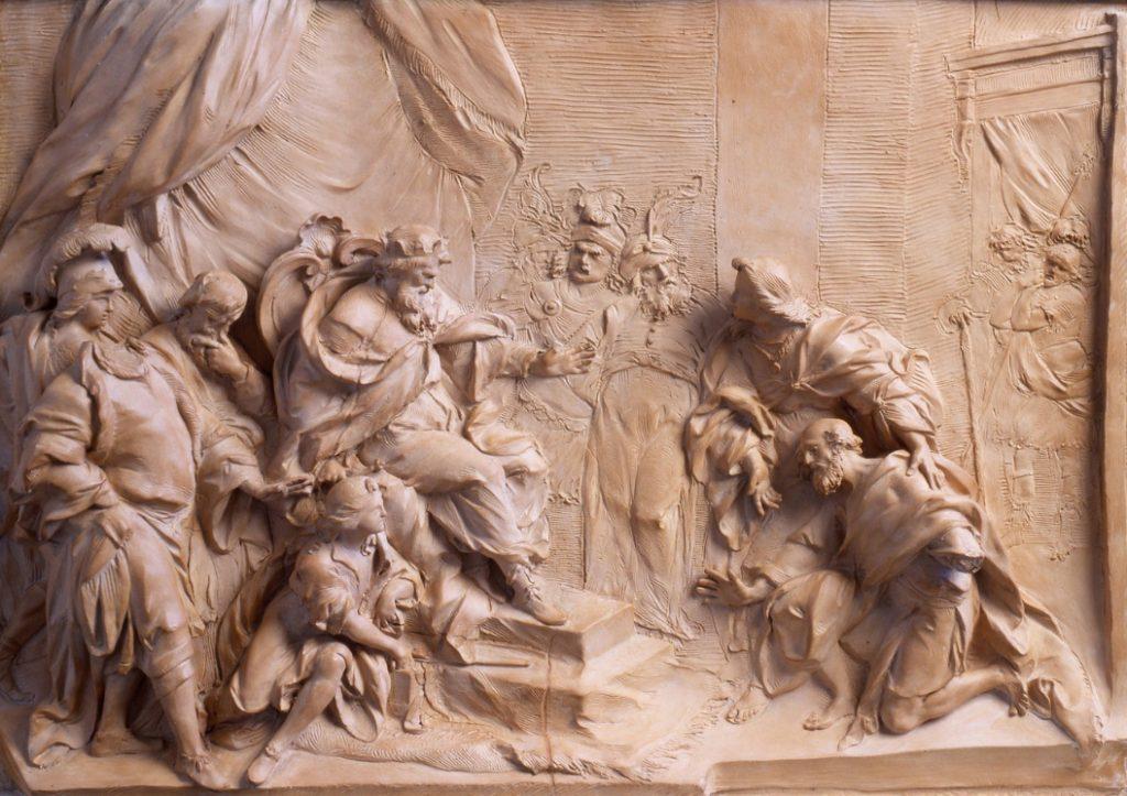 Vincenzo Pacetti Giacobbe riceve il faraone e Giuseppe, 1766. Dimensioni  50 × 72 cm