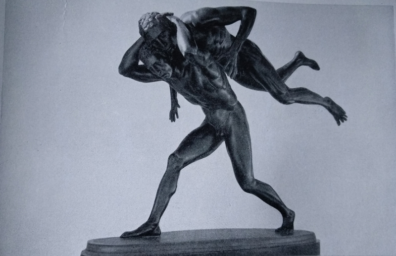 Aroldo Bellini - Lottatori bronzo