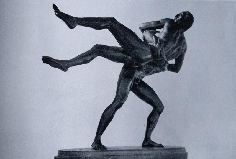Aroldo Bellini - Lottatori in bronzo
