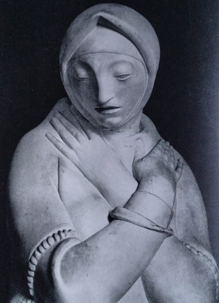 Aroldo Bellini - Vedova in marmo