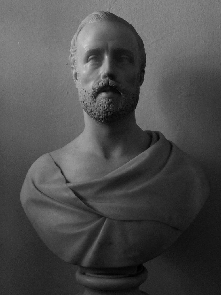 Giovan Maria Benzoni - busto Autoritratto presso Biblioteca Angelo Mai di Bergamo