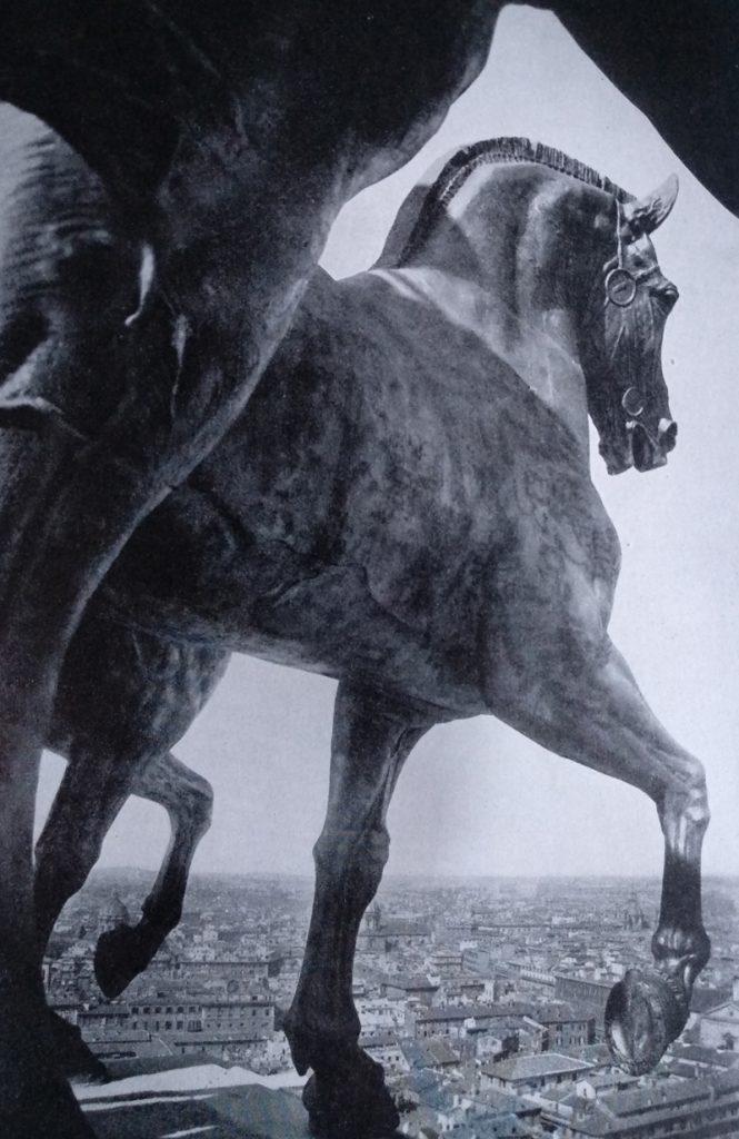 Paolo Bartolini - Quadriga sul Vittoriano in Bronzo dorato
