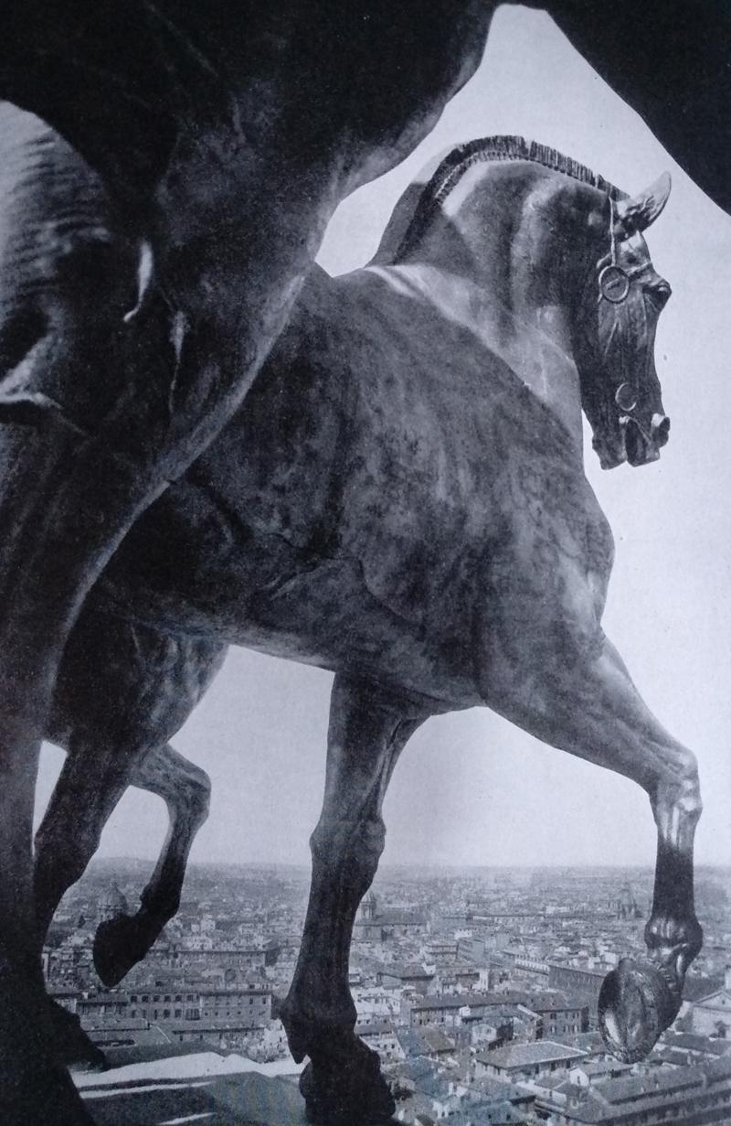 Paolo Bartolini Quadriga sul Vittoriano in Bronzo dorato