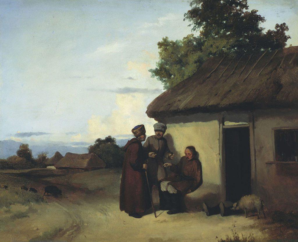 Vasilij Ivanovic Sternberg - Piccola taverna russa 1837