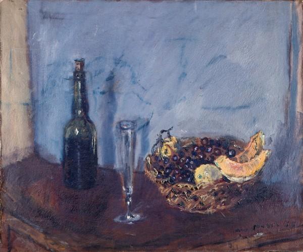 Filippo De Pisis natura morta con cestino di frutta