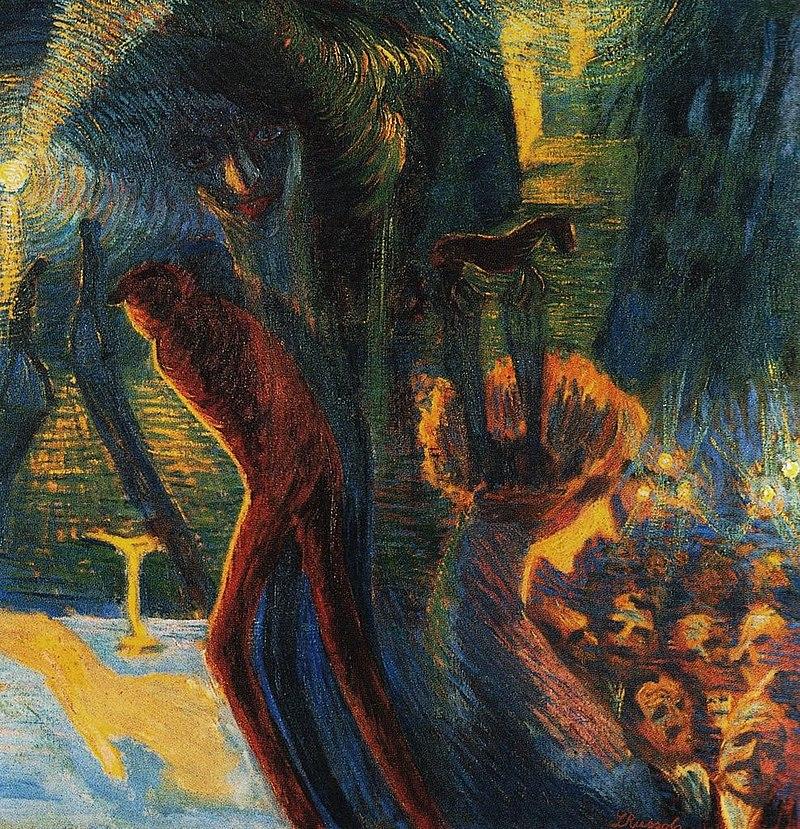 Luigi Russolo Ricordi di una notte olio su tela