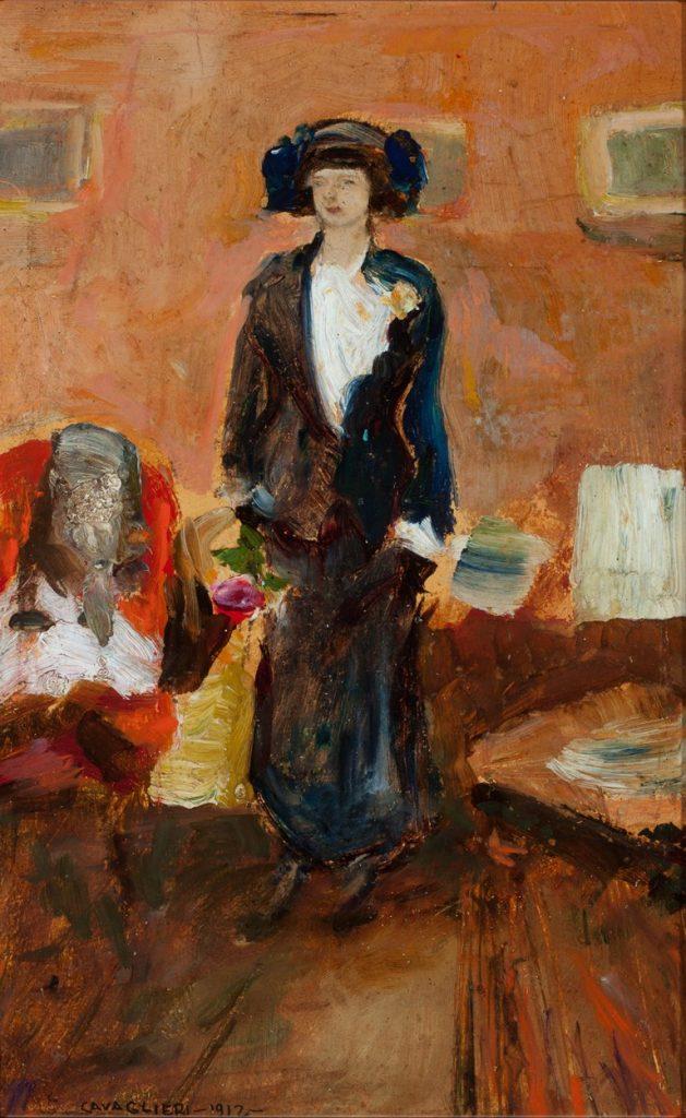 Mario Cavaglieri Giulietta in visita 1912