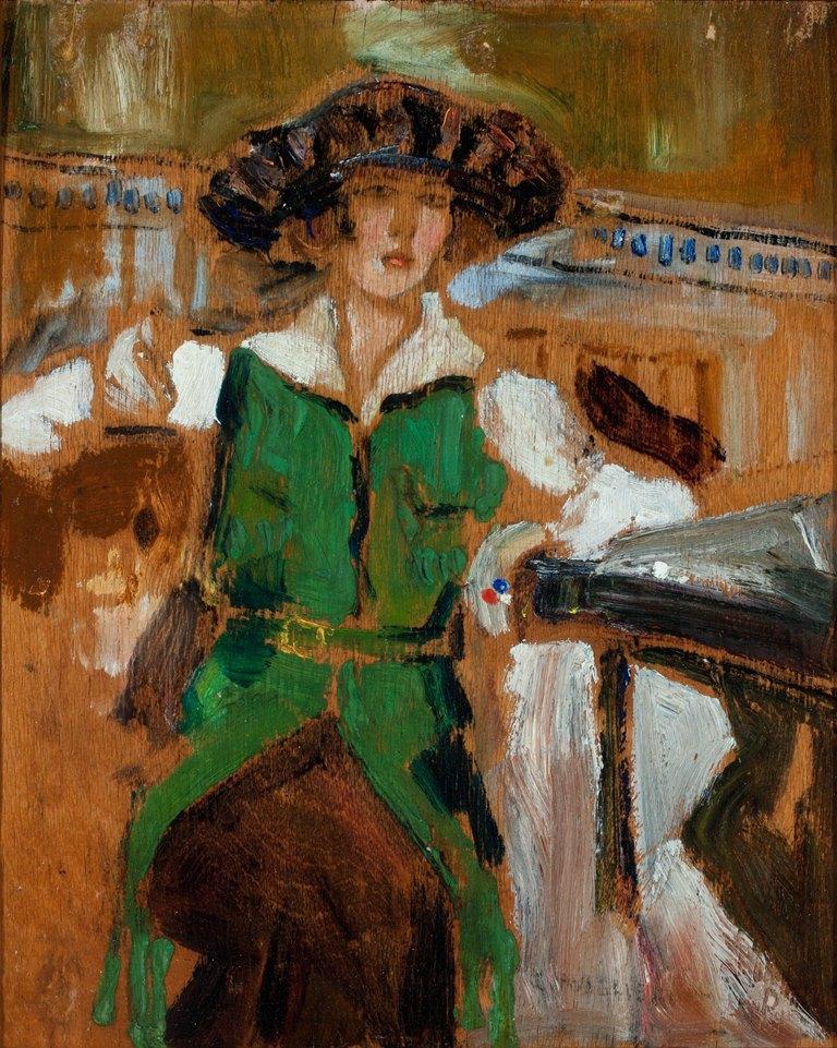 Mario Cavaglieri cappello di velluto