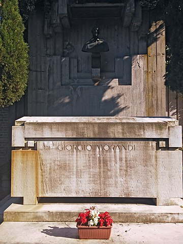 Tomba di Giorgio Morandi nella Certosa di Bologna