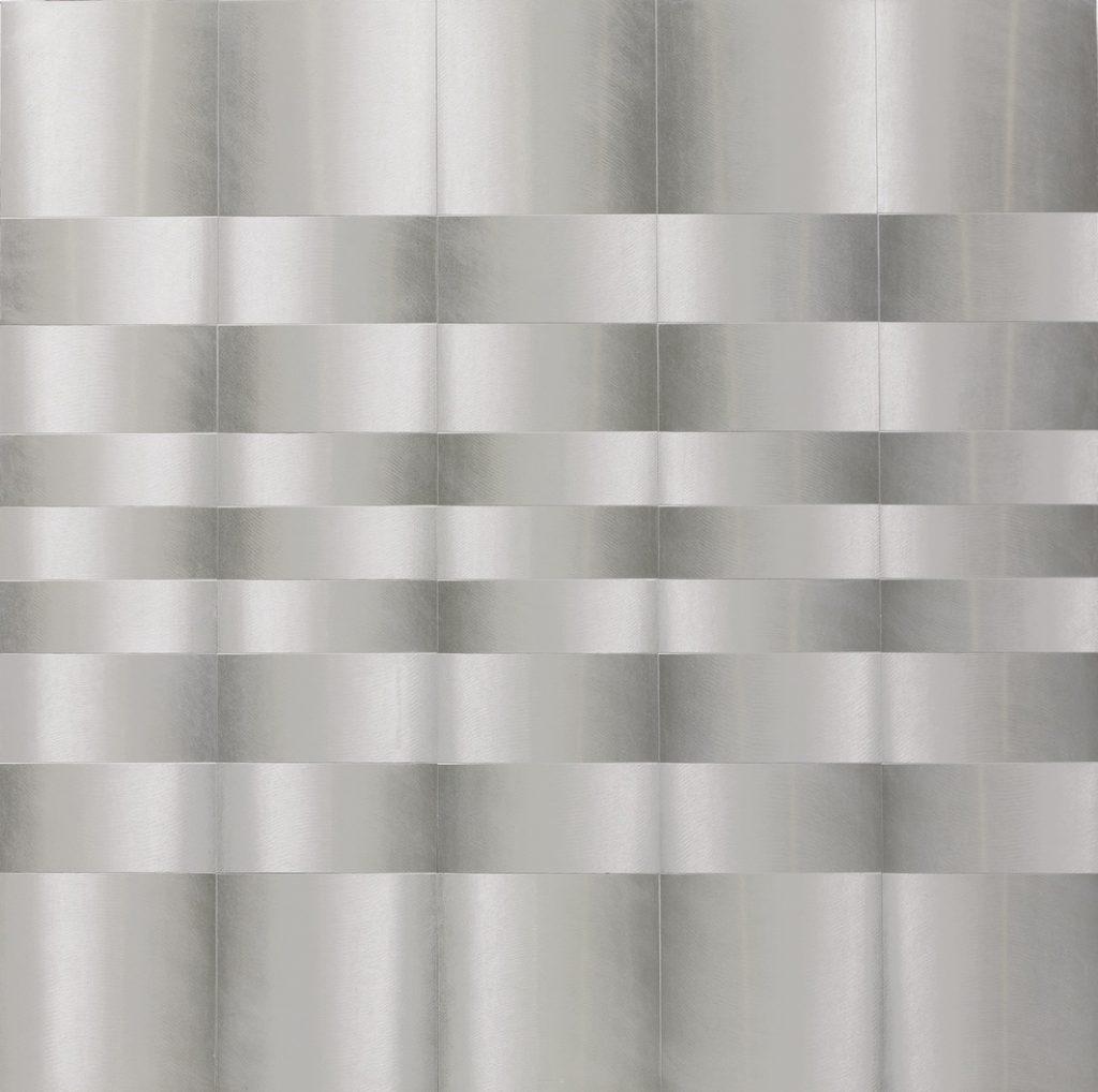 Getulio Alviani Superficie Testura Vibrante in alluminio