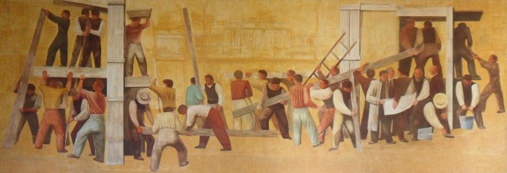 Massimo Campigli Murales palazzo delle nazioni Ginevra