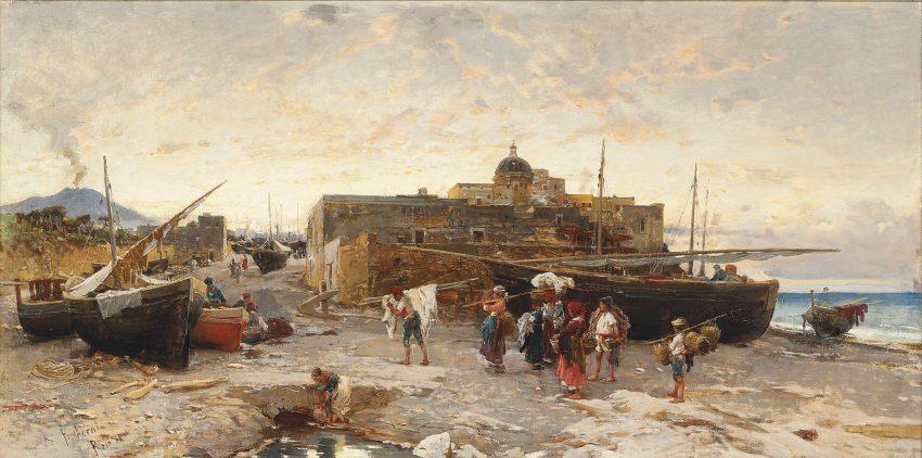 Pescatori napoletani a fine giornata