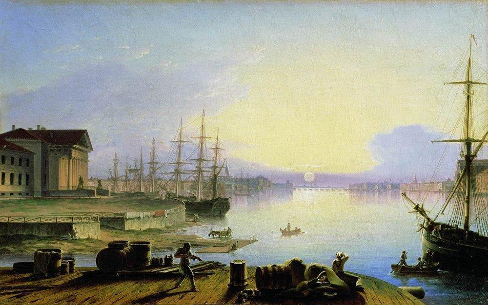 Maxim Vorobiev Alba soprail fiume Neva 1830