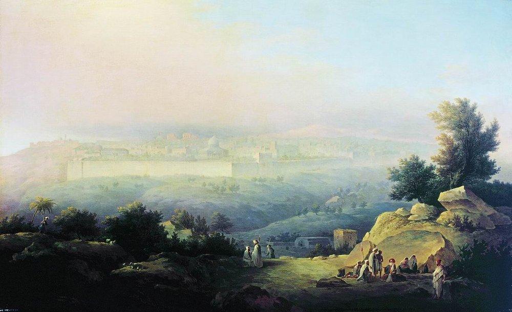 Maxim Vorobiev Veduta di Gerusalemme 1821