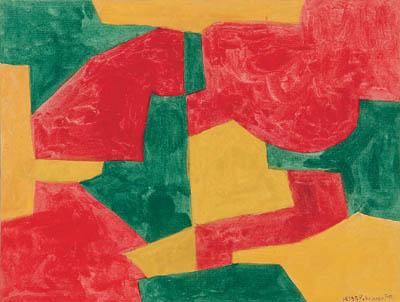 Serge Poliakoff Composizione verde rossa e gialla