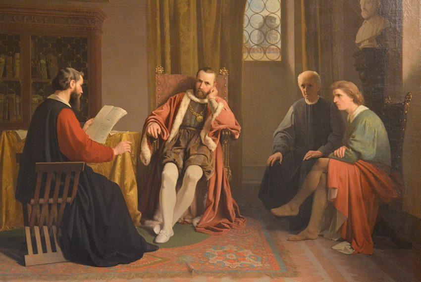 """Benedetto Varchi legge la sua """"Istoria Fiorentina"""" a Cosimo I de' Medici"""