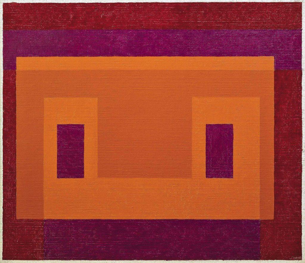 Il dipinto rivela lo stretto rapporto tra l'arte e le forme geometriche dei monumenti precolombiani che Albers studiò nel corso dei suoi viaggi, offrendo così una nuova lettura dei suoi più celebri lavori astratti e evidenziando importanza del tema della serialità che troviamo in tutta la sua produzione.
