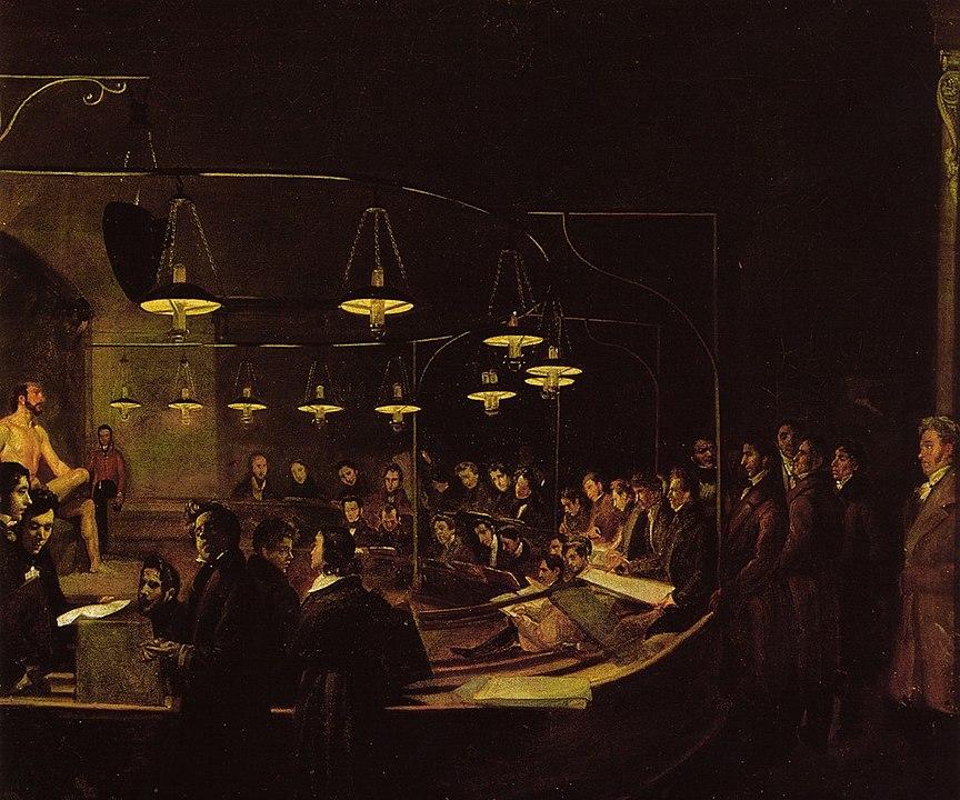 Giovanni Battista Biscarra La classe di nudo dell'Accademia di Belle Arti