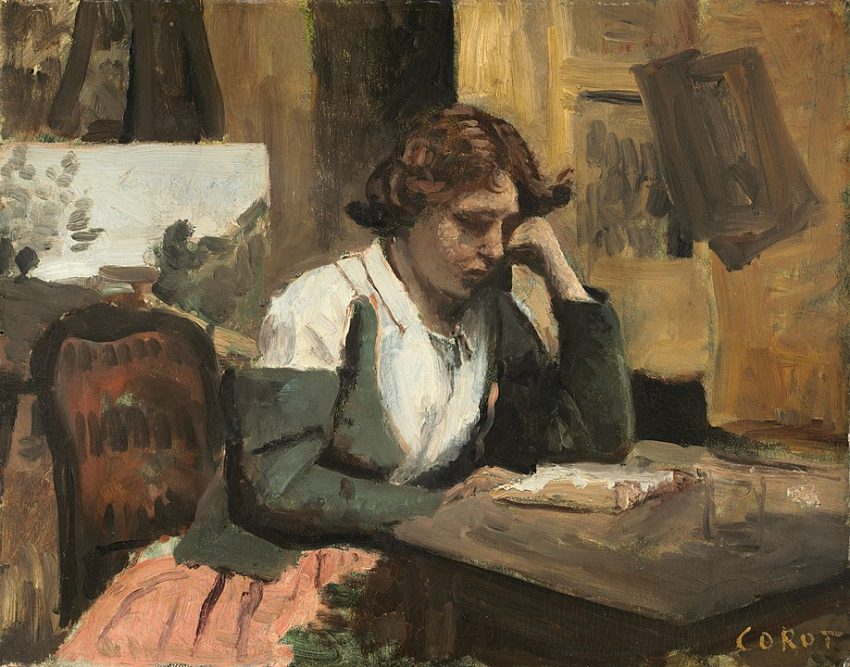 Jean Baptiste Camille Corot - Giovane ragazza che legge