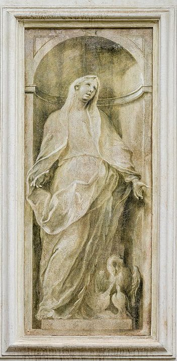 Enrico Albricci - allegoria della Carità Santa Maria della Carità Brescia