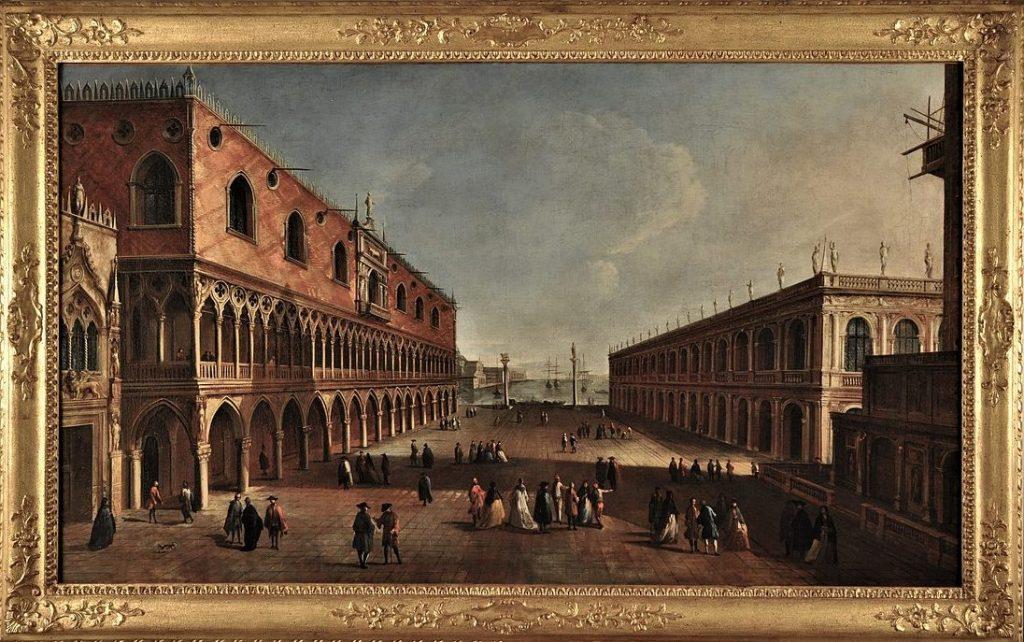 Franceso Albotto Piazzetta con Palazzo Ducale e la Biblioteca Marciana 1721