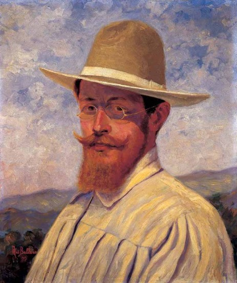 Antonio Ballero autoritratto al sole 1907