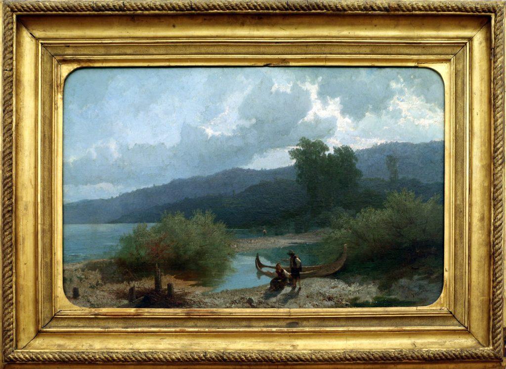 Angelo beccaria paesaggio lacustre 1862