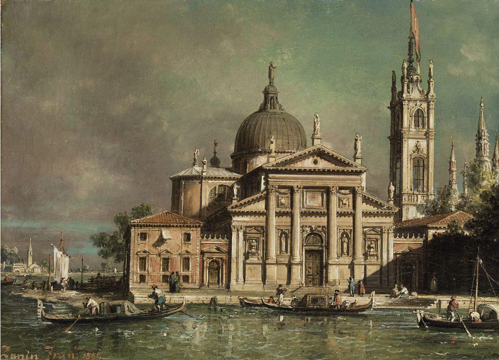 Francesco Zanin San Giorgio Maggiore in Venezia 1869 olio su tela
