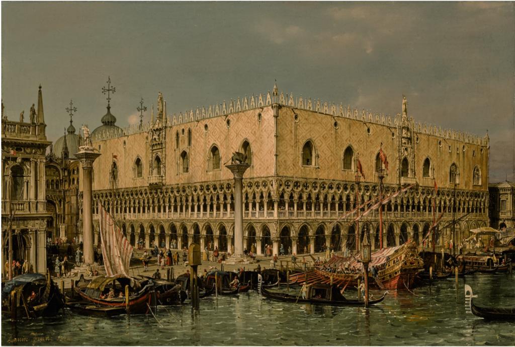 Francesco Zaninvista del palazzo ducale Vanezia