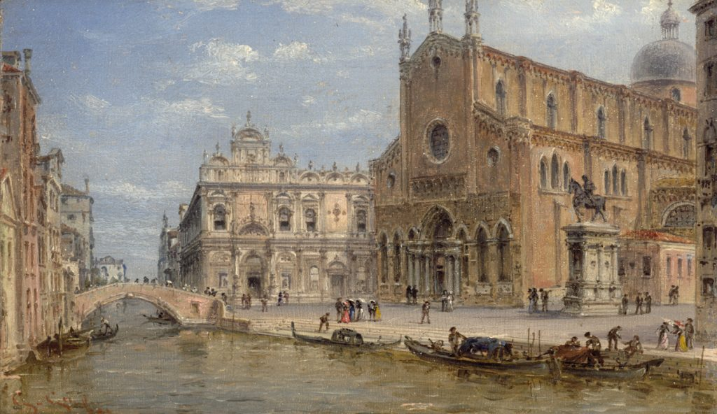 Giovanni Grubacs Veduta di Campi_Santi_Giovanni e Paolo San Marco