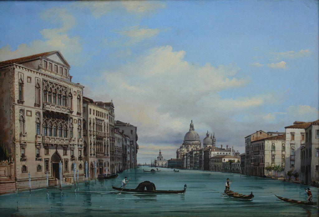 Giovanni Grubacs veduta del canal grande