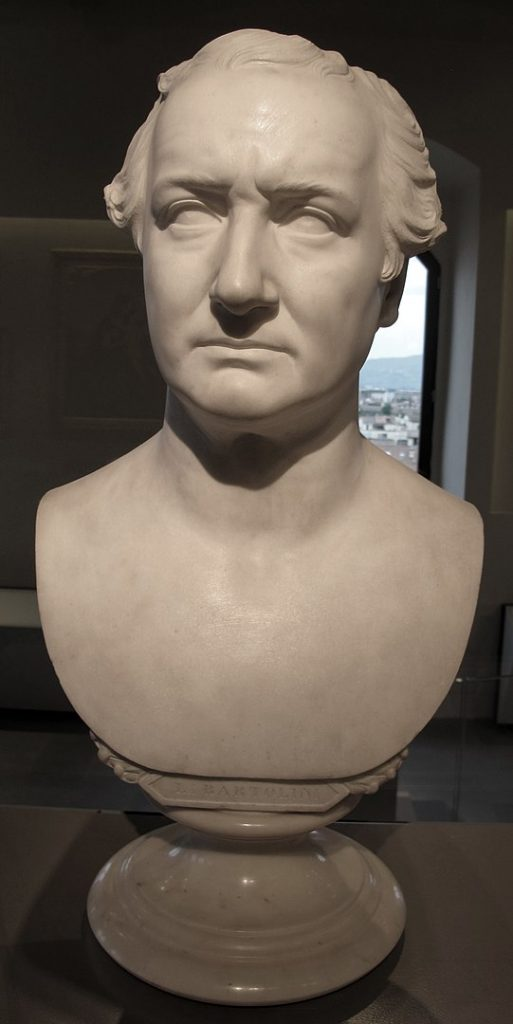 Pasquale Romanelli ritratto di Lorenzo Bartolini in marmo