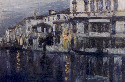 Pietro Bortoluzzo Pieretto canal grande notturno