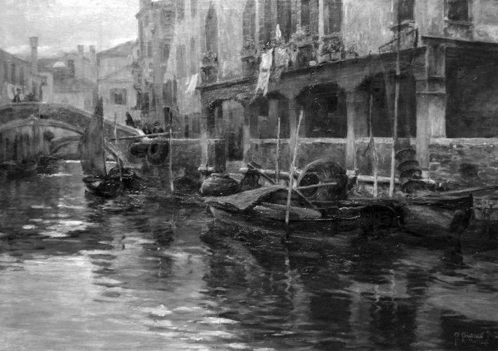Pietrp Bortoluzzi detto Pieretto Bianco canale a Venezia