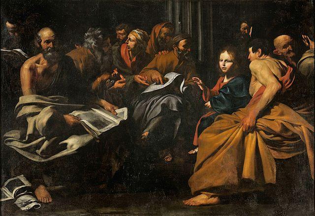 Jusepe De Ribera Gesù tra i dottori
