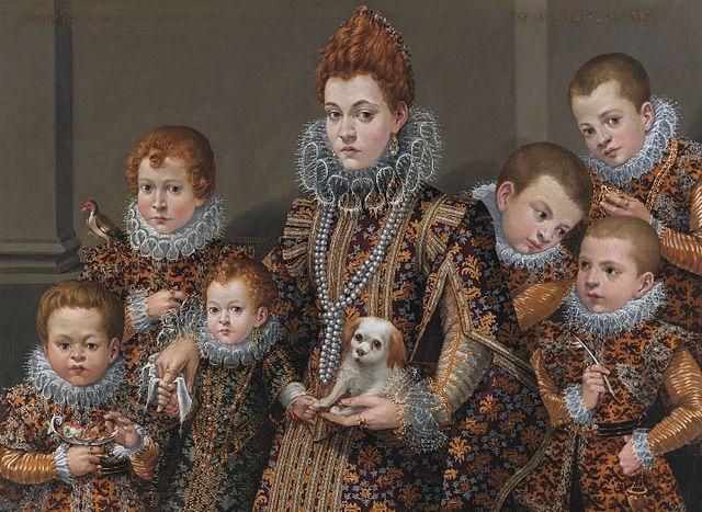 Lavinia Fontana Bianca degli Utili Maselli e figli