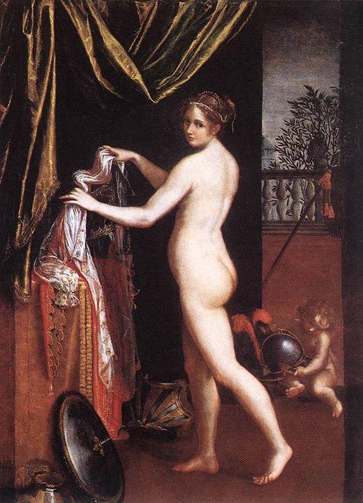 Lavinia Fontana Minerva in atto di abbigliarsi 1613