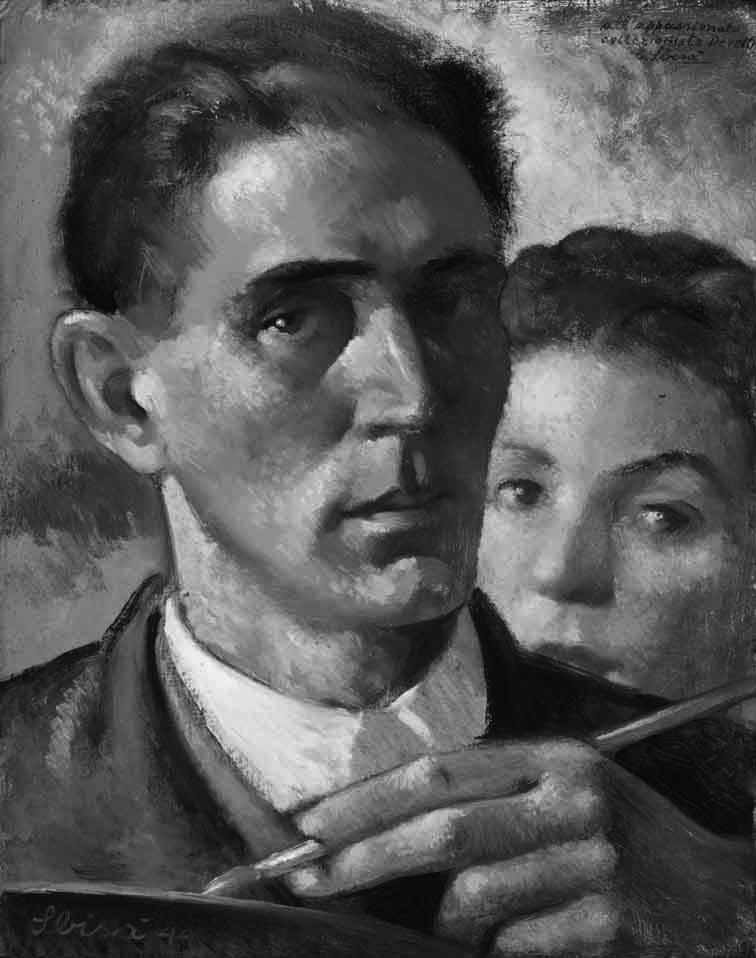 Carlo Sbisà Autoritratto con Mirella